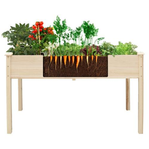 Planter Bed Rectangular Raised Plant Boxes Pine