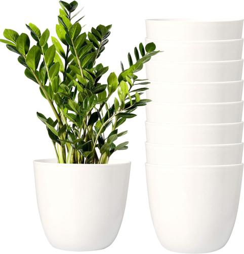 Youngever 8 Pack Inch Planters Indoor Flower Plant Pots, Deco