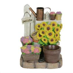 led planter sunflowers battery operated with timer