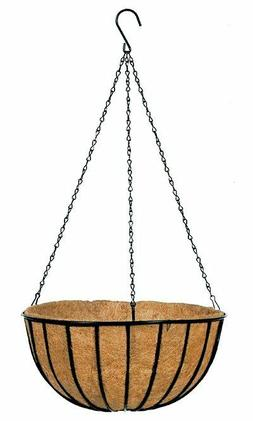 """Lot of 2-14""""D Natural Gardman Hanging Planter with Coco Line"""