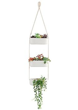 Mkono Macrame Vertical Wall Planters Hanging Planter With Ce