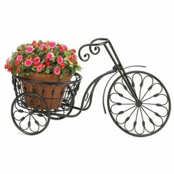 Metal Plant Stand Garden Bicycle Flowers Pot Basket Decor Ho