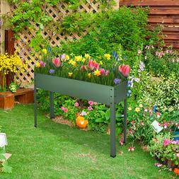Metal Raised Elevated Garden Bed Planter Box Vegetables Frui