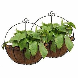 Metal Wall Hanging Planter Basket  Great for Indoor or Outdo