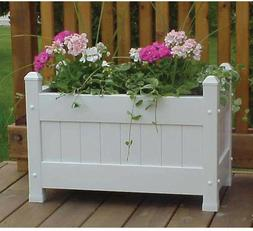 Duratrel Model 11124 White Large Planter Box Fully Assembled