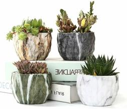 Modern Style Ceramic Marble Flower Succulent Planter/Pots fo