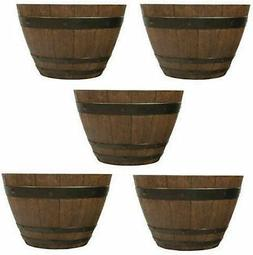 NEW!! Southern Patio   13″ Woodford Barrel Planter 5-Pack,