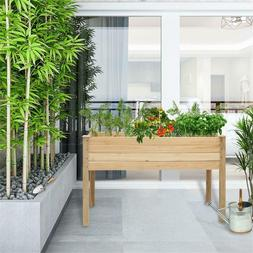 Outdoor Raised Elevated Garden Bed planter Box Grow Flower V