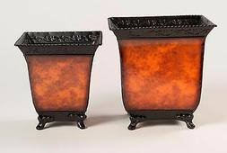 Planters Pots Containers  Fresh or Silk Plants Flowers Metal