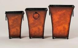 Planters Pots Containers Fresh Silk Plants Flowers Metal  Br