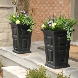 Planters w Self Watering Tray Insert Wyndham Tall Planter In