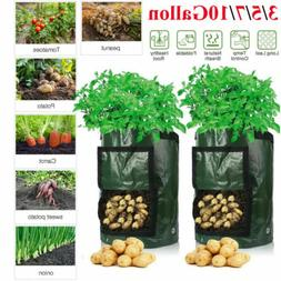Potato Grow Bags Planters Outdoor Garden Vegetable Tomato Pl