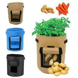 Potato Planting Grow Bag Side Window Planter Vegetable Pots