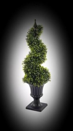 Potted Artificial Indoor Outdoor 90cm Tall Boxwood Spiral To