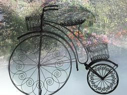 Price Reduced Now! Unique, Rustic Metal Bicycle Garden One-o
