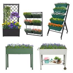 Raised Garden Bed Patio Grow Box Kit Elevated Vertical Plant