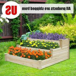 Raised Garden Bed Yard Patio Elevated Planter Box for Flower