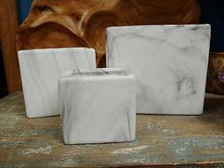 Square Marble look Planters - 3 sizes - Modern Look