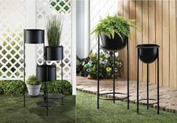 Tall Planters Outdoor Large Indoor Live Plant Iron 3 Tier St