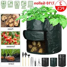 Vegetable Potato Growing Container Bags DIY Planter PE Cloth