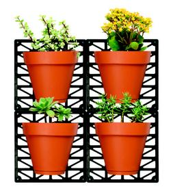 Ideaworks Wall-Mount Planter Set-Decorate Wall with Real Pla