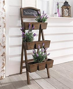Wood Plant Stand / Flower Shelf for Outdoor or Greenhouse, T